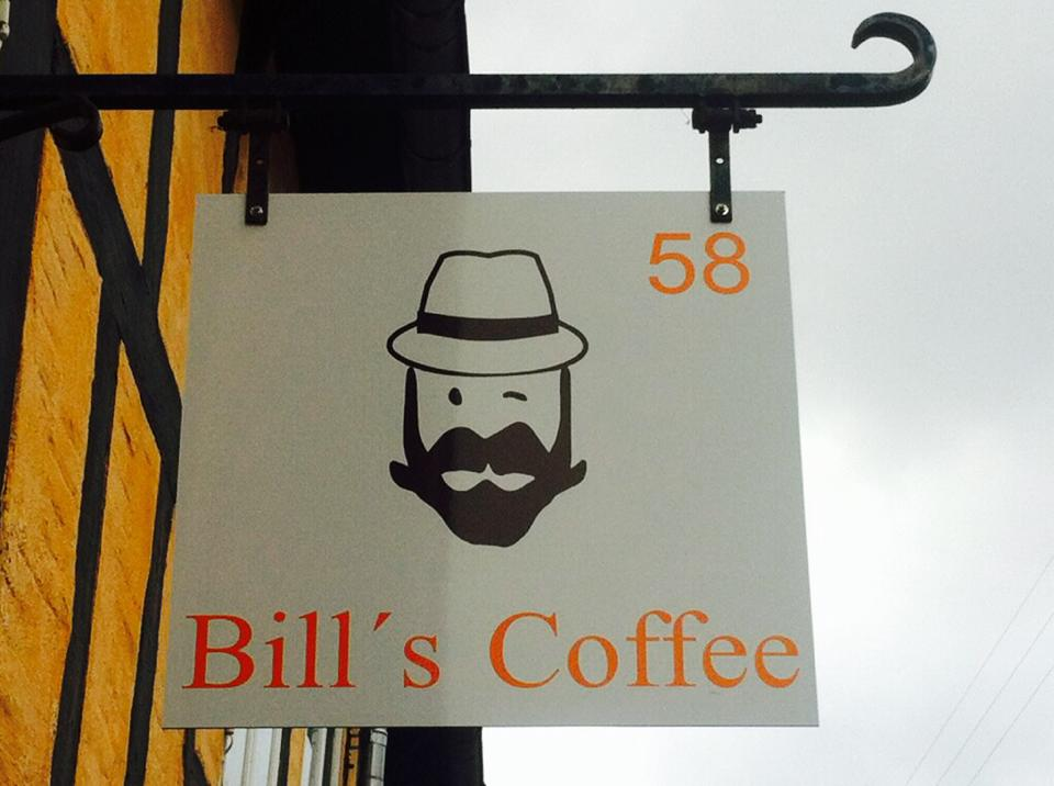 Bill's Coffee skilt